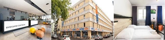 A&O Köln Neumarkt Hotel 2* lı olmasına rağmen konumu ve standart servisi ile bütçe dostu bir oteldir.