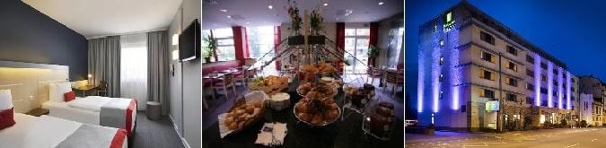 3* Holiday Inn Express Frankfurt Messe, rahat ve konforlu odaları ve bütçe dostu olması nedeniyle tercih edilmektedir.