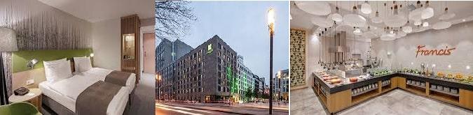 4* Holiday Inn Frankfurt Alte Oper fuara yürüyüş mesafesinde olması nedeniyle avantajlıdır.