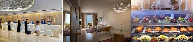 Dubai Internet City Metro İstasyonu karşısında bulunan otel ulaşım imkanları ve geniş odaları nedeni ile tercih edilmektedir.
